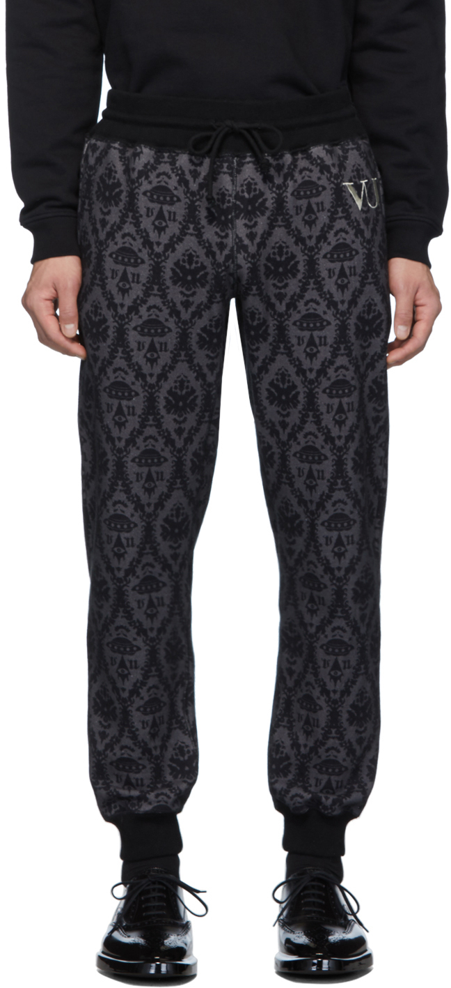 Undercover Pants Black Valentino Edition Printed Lounge Pants