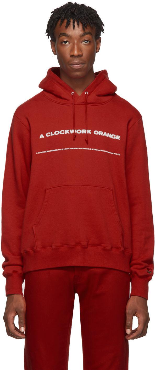 Undercover Accessories Red 'A Clockwork Orange' Print Hoodie