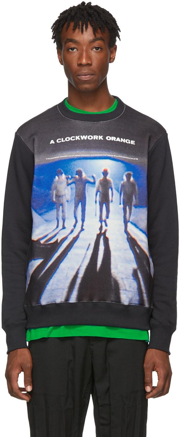 Undercover T-shirts Black 'A Clockwork Orange' Gang Sweatshirt