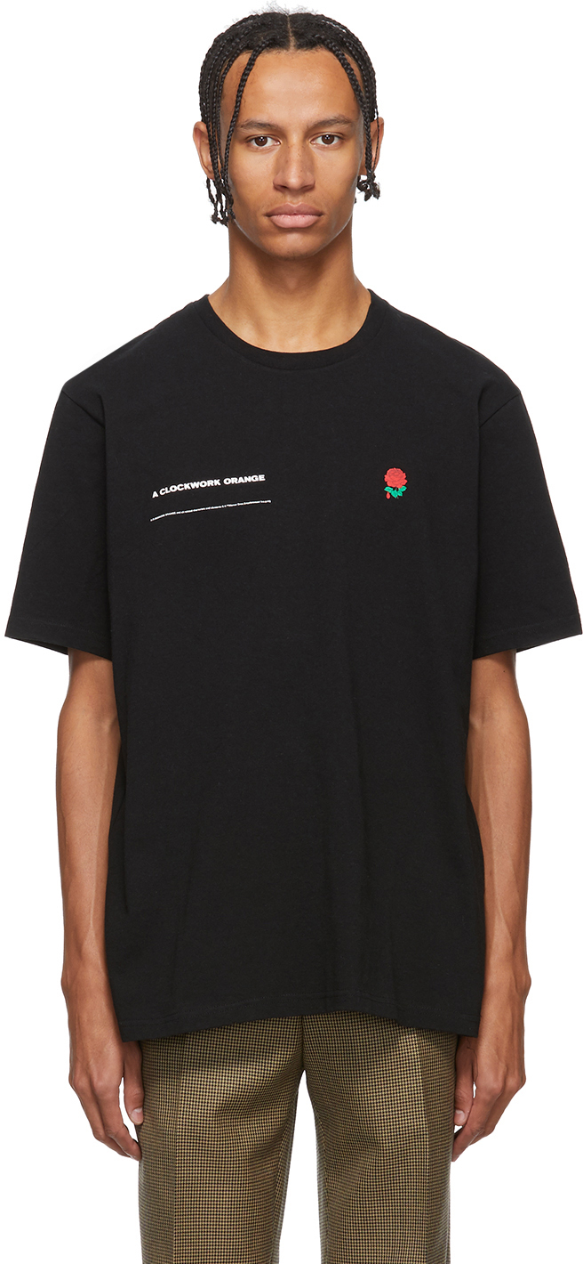 Undercover T-shirts Black A Clockwork Orange Rose T-Shirt