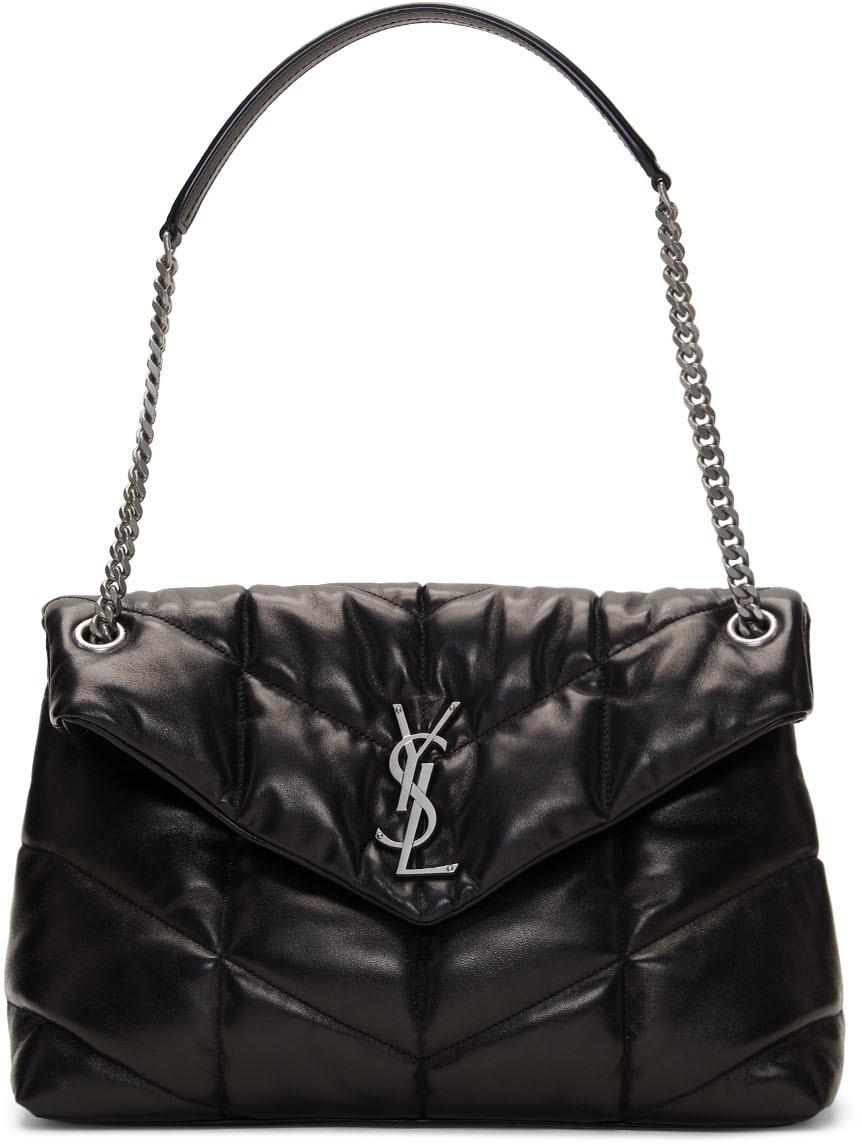 Saint Laurent Shoulder Black Medium Puffer Loulou Bag