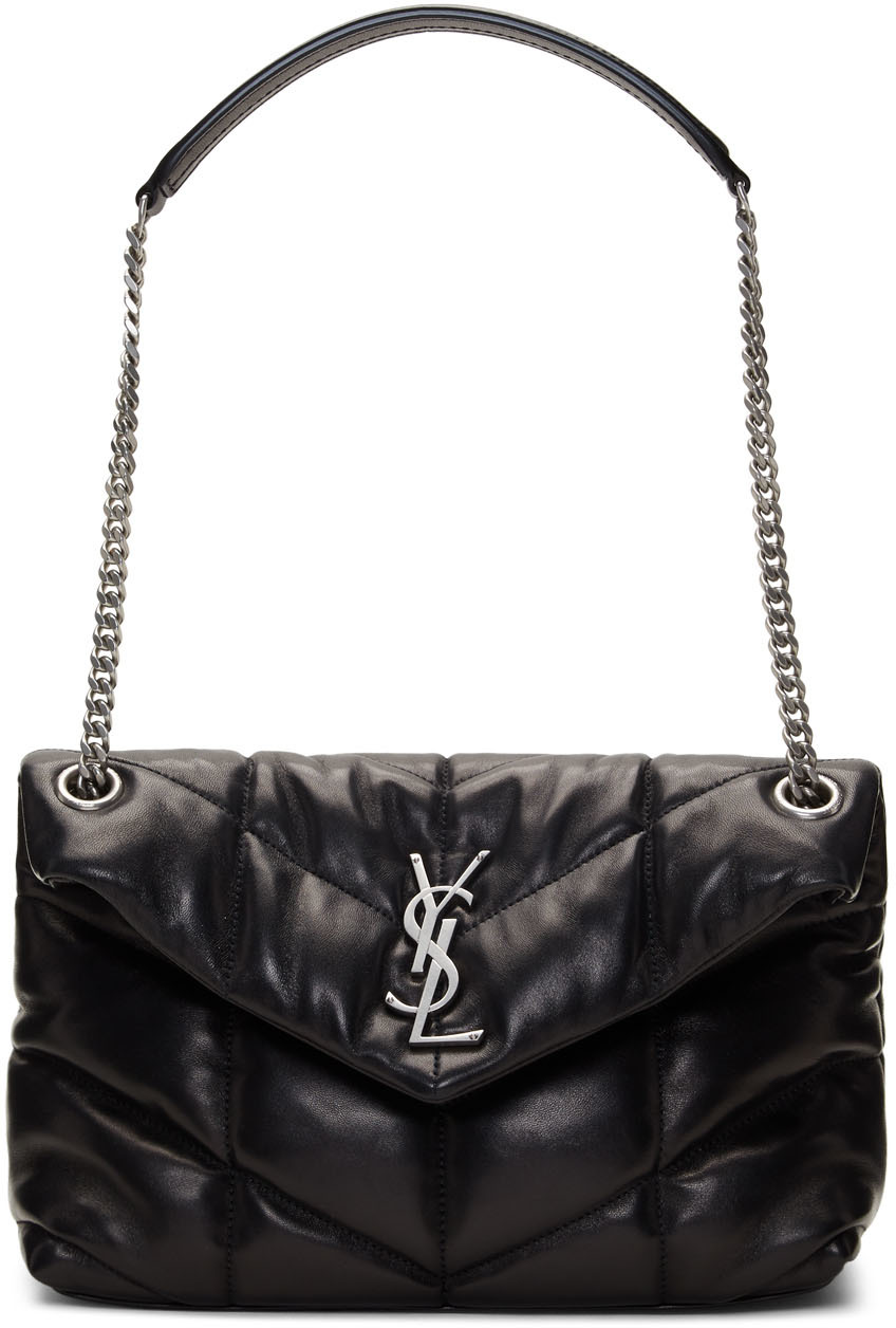 Saint Laurent Shoulder Black Small Puffer Loulou Bag