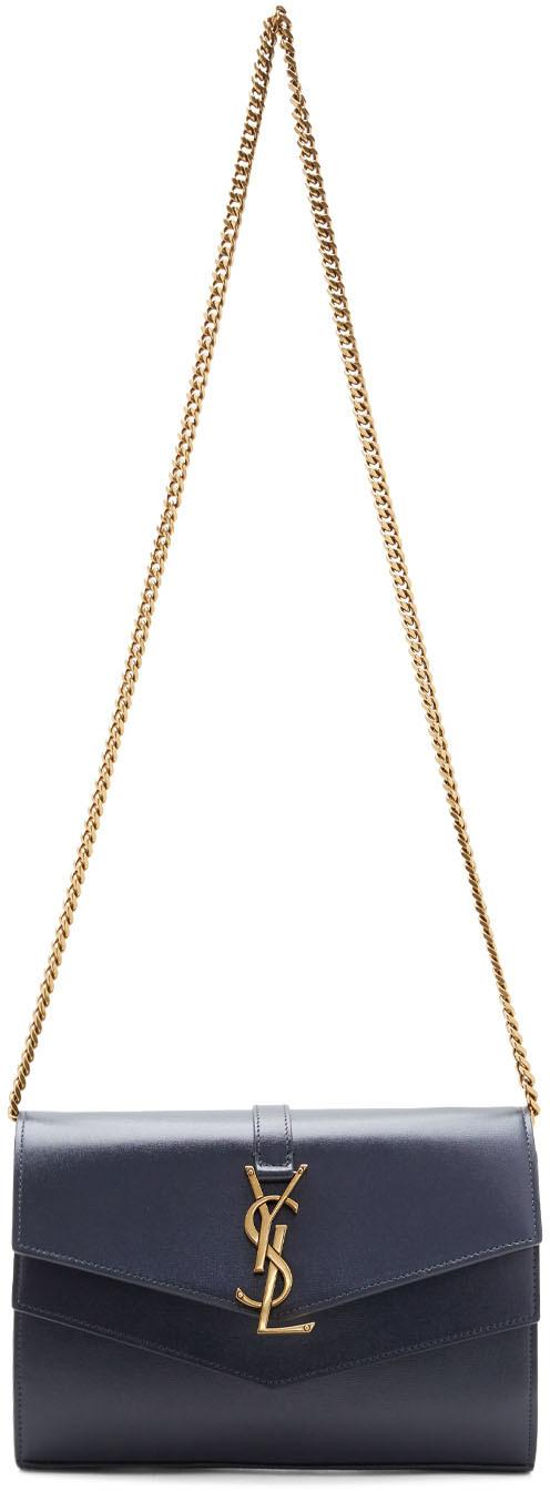 Saint Laurent Shoulder Grey Sulpice Chain Wallet Bag