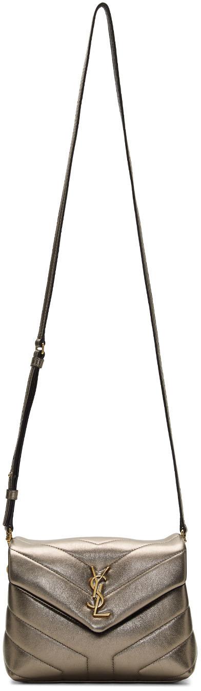Saint Laurent Shoulder bags Gunmetal Metallic Toy Loulou Bag