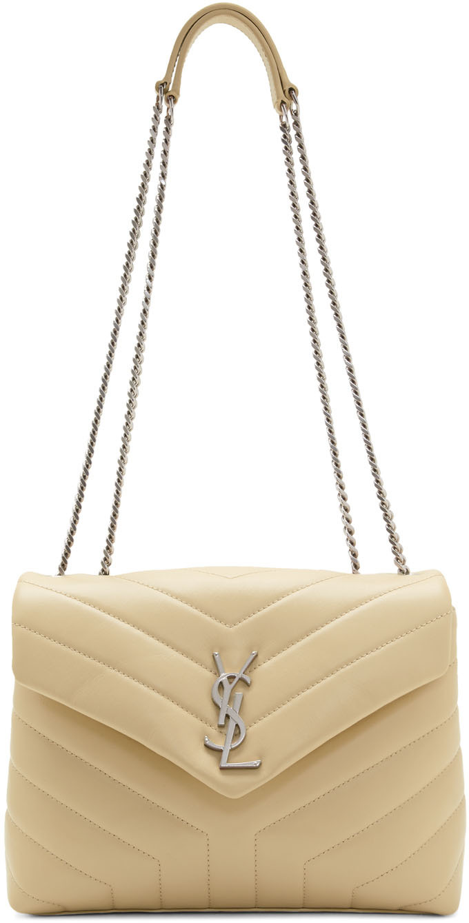 Saint Laurent Shoulder Beige Small Loulou Bag