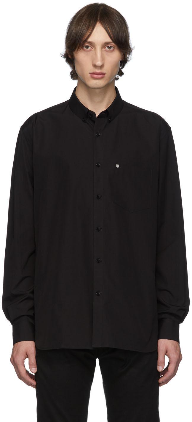 Saint Laurent Knits Black Logo Hardware Shirt