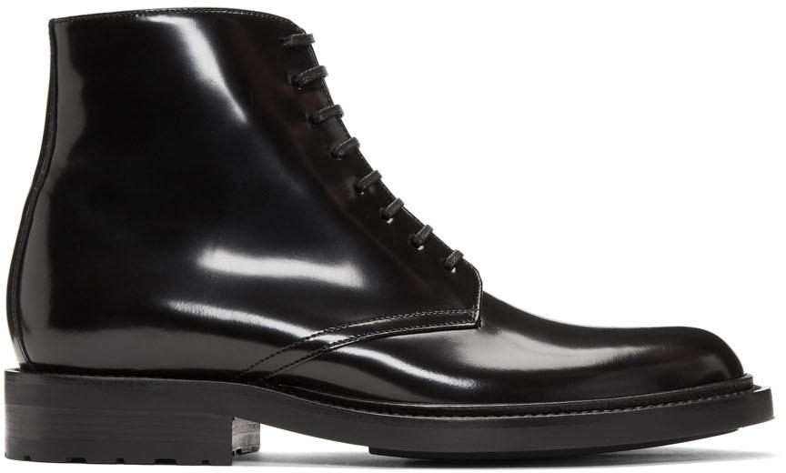 Saint Laurent Boots Black Army Derby Boots