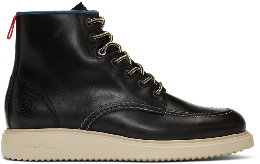 Ps By Paul Smith Boots Black Caplan Boots