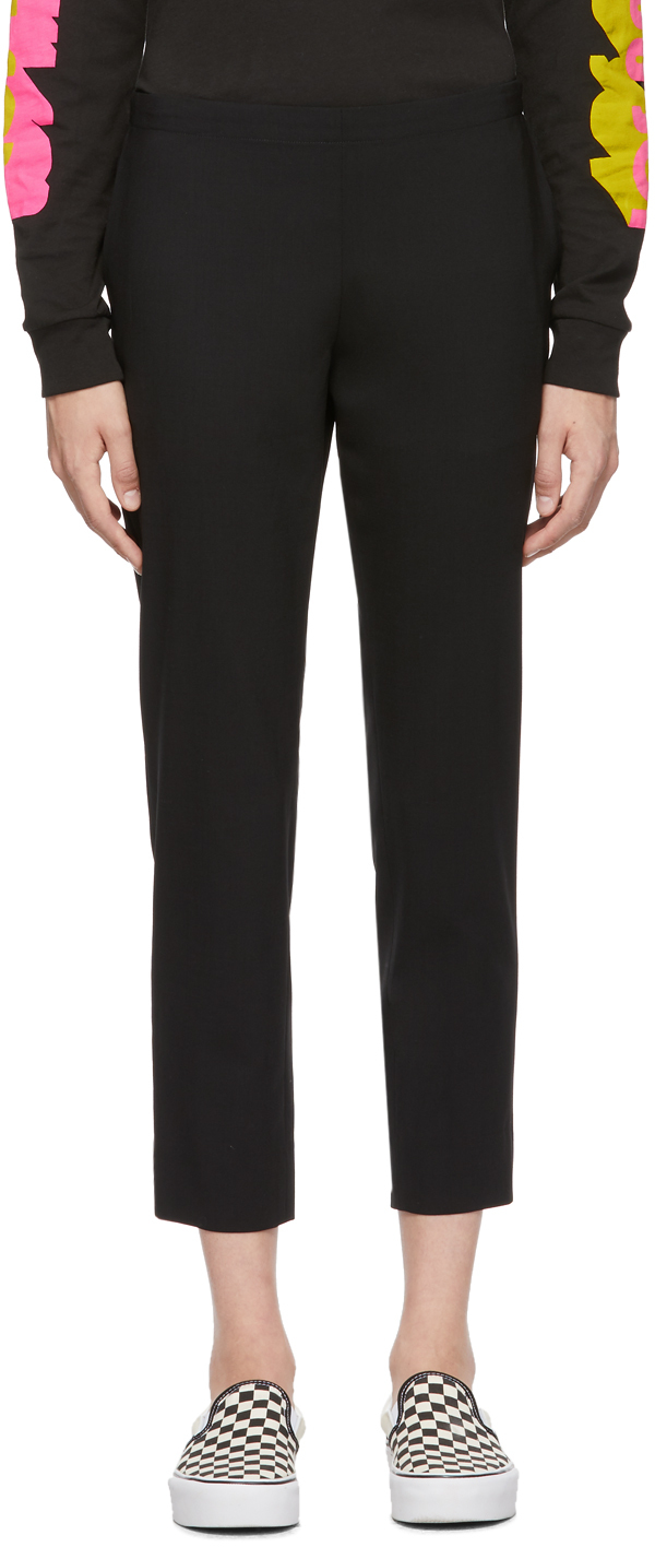 6397 Black Wool Pull-On Trousers