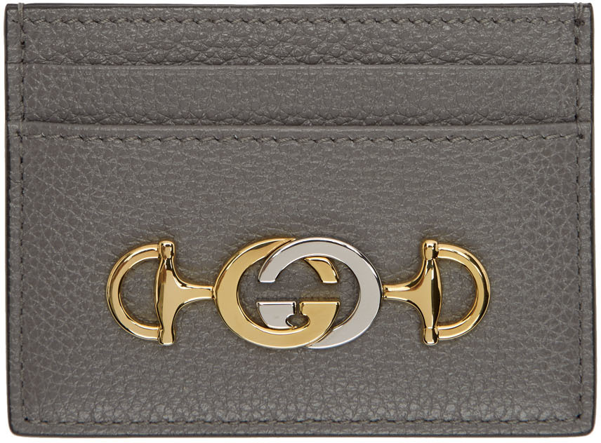 Gucci Accessories Taupe Zumi Card Holder