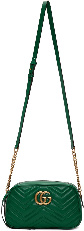 Gucci Shoulder Green Small GG Marmont Camera Bag
