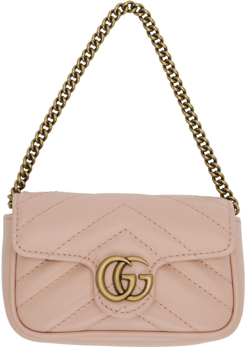 Gucci Cases Pink GG Marmont Coin Case Bag