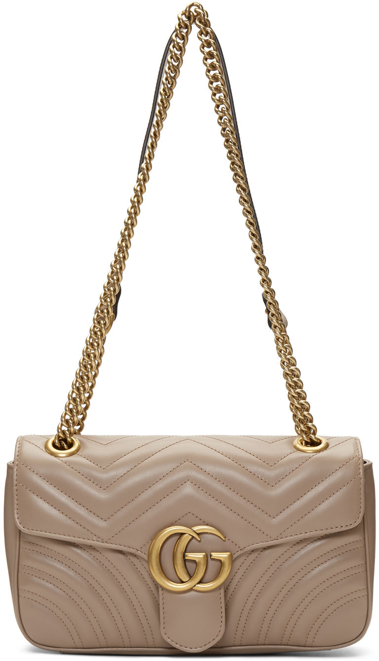 Gucci Shoulder Taupe Small Marmont Bag