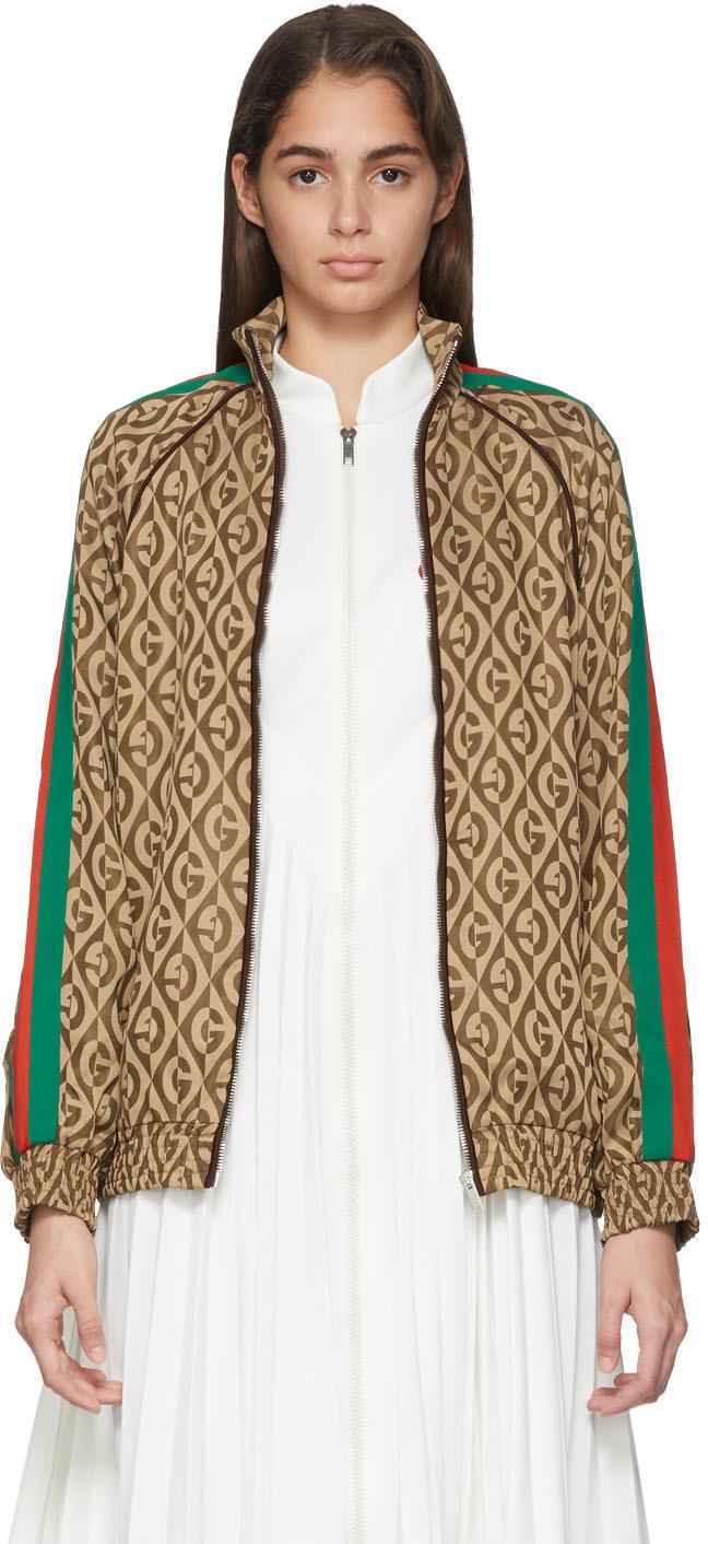 Gucci Jackets Brown G Rhombus Jacket