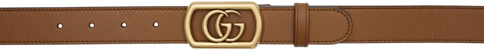 Gucci Belt Brown Framed Double G Belt