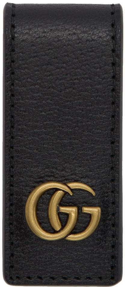 Gucci Accessories Black Leather GG Money Clip