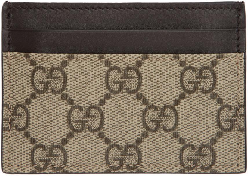 Gucci Accessories Beige GG Supreme Money Clip Card Holder