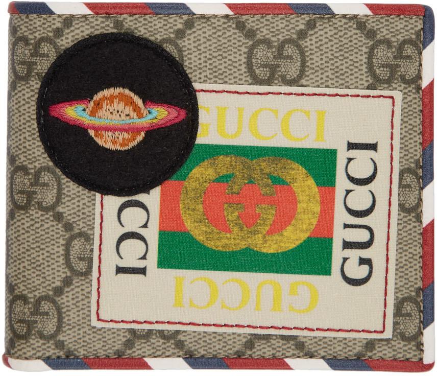 Gucci Wallets Beige GG Supreme Courrier Wallet