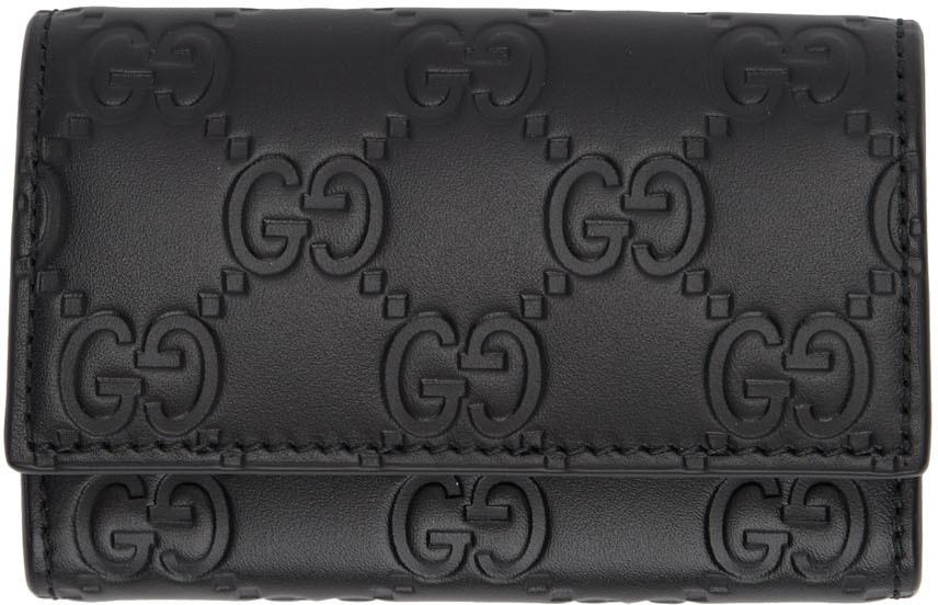 Gucci Wallets Black 'Gucci Signature' Key Case