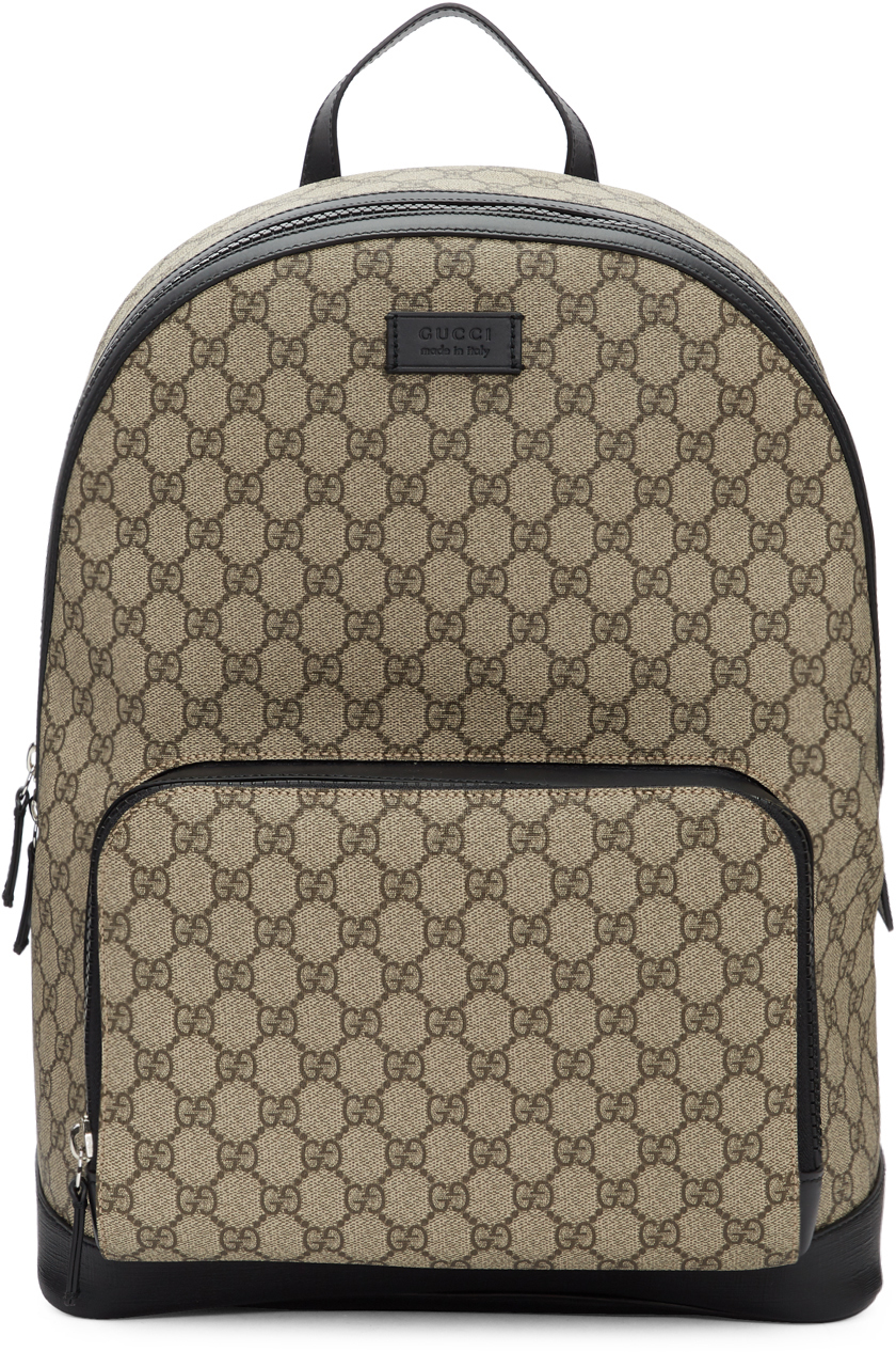 Gucci Backpacks Beige GG Supreme Backpack