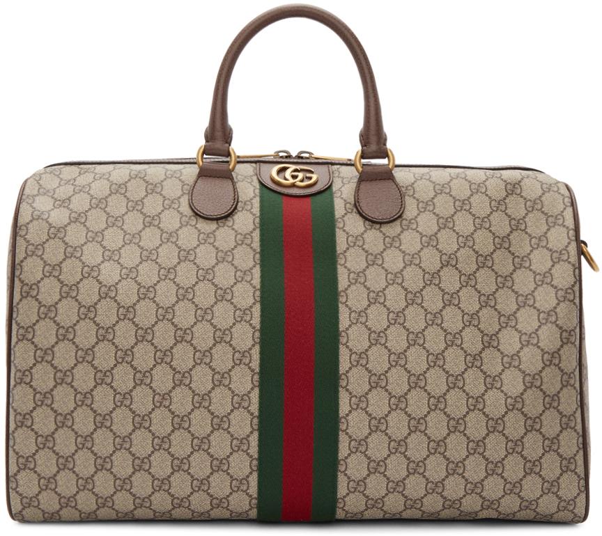 Gucci Accessories Beige Medium Ophidia Duffle Bag
