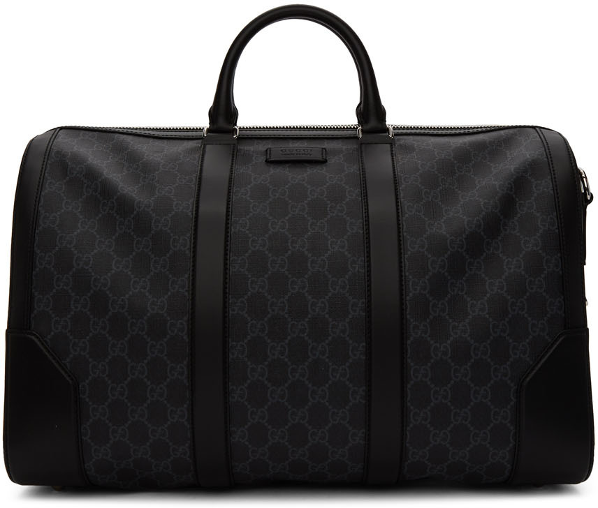 Gucci Accessories Black Soft GG Supreme Carry-On Duffle Bag