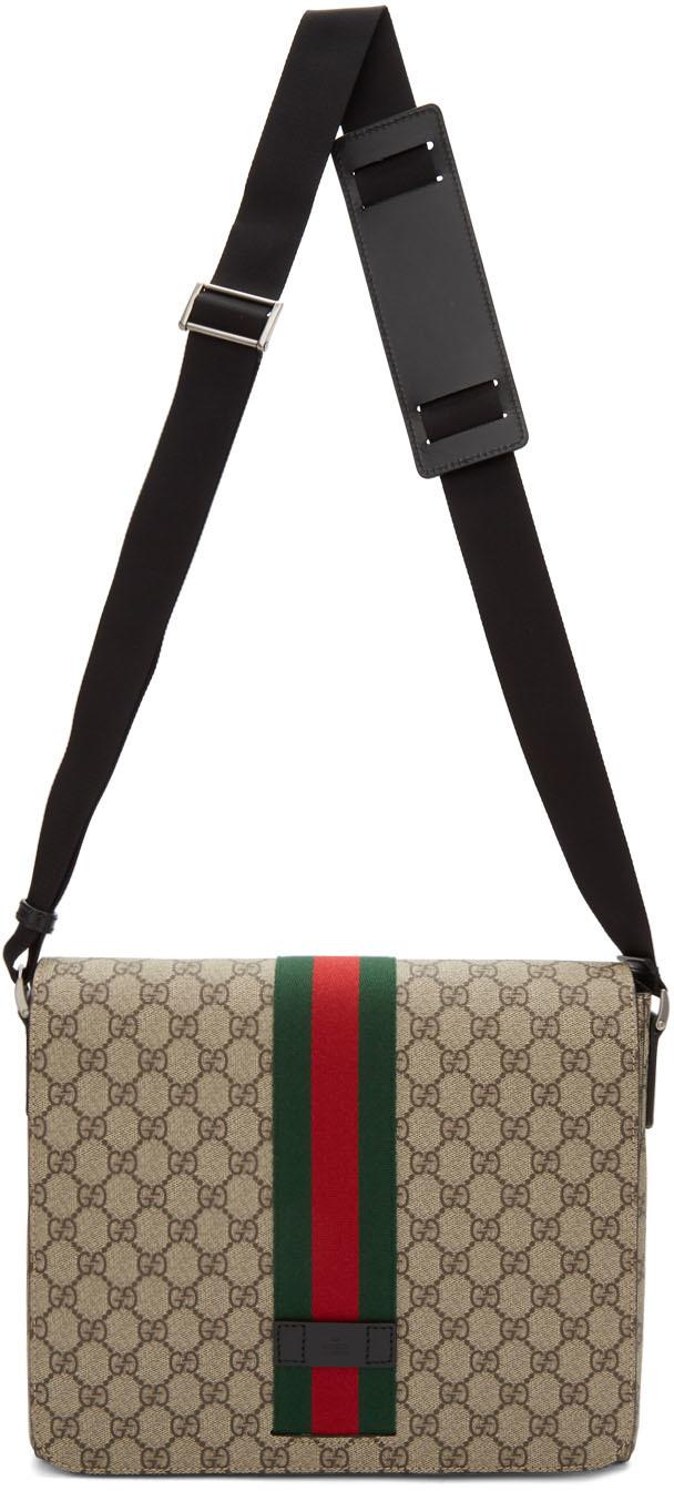Gucci Accessories Beige GG Supreme Messenger Bag