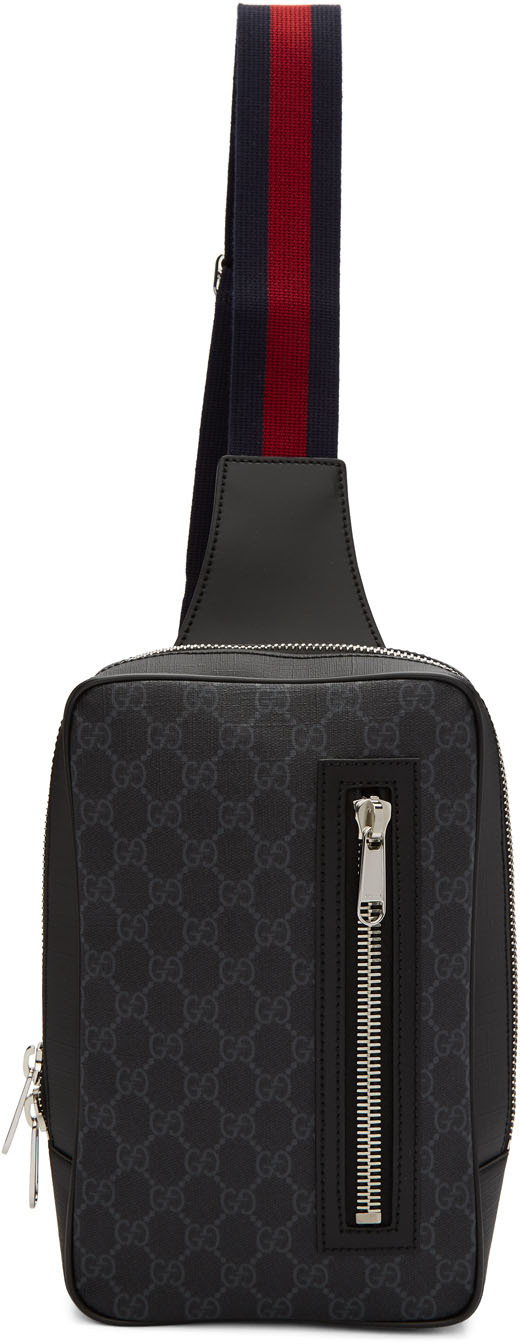 Gucci Belt Black GG Supreme Belt Bag