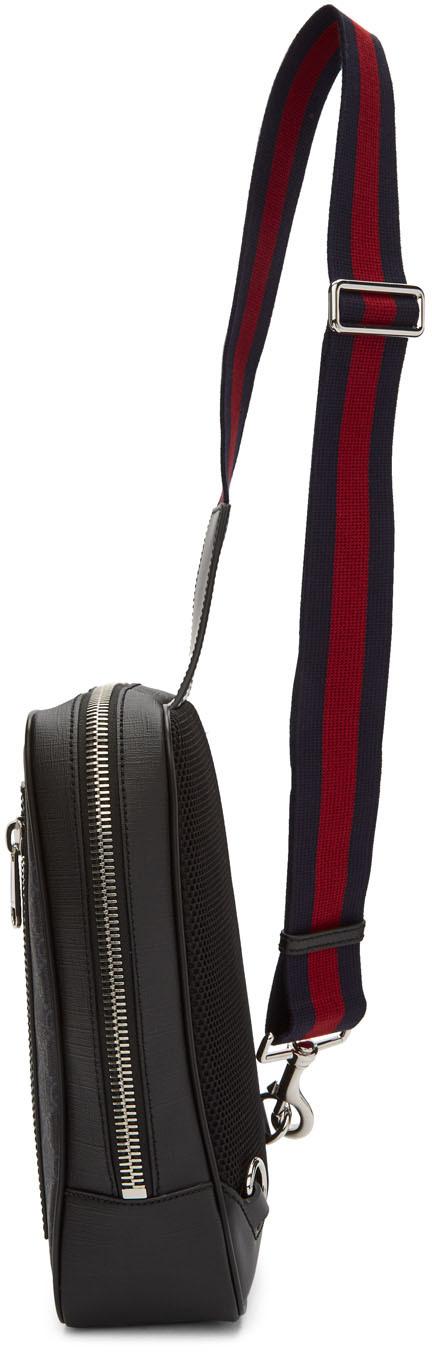 Gucci Belt Black GG Supreme Belt Bag