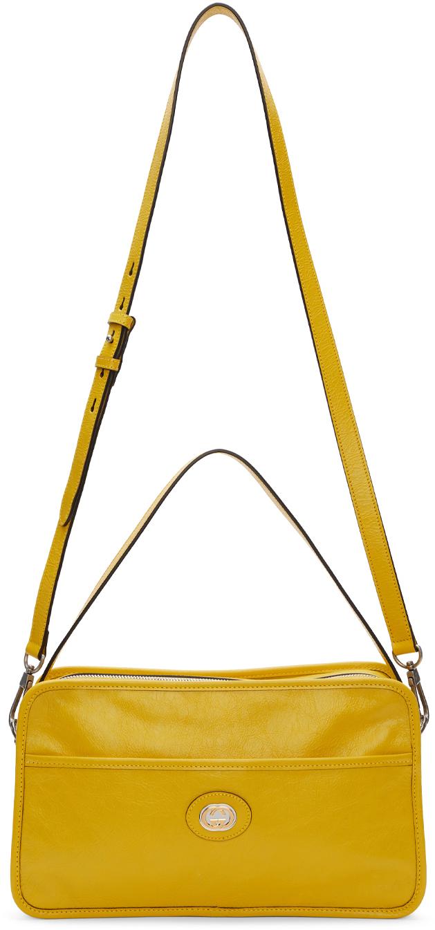 Gucci Crossbody Yellow Crossbody Messenger Bag