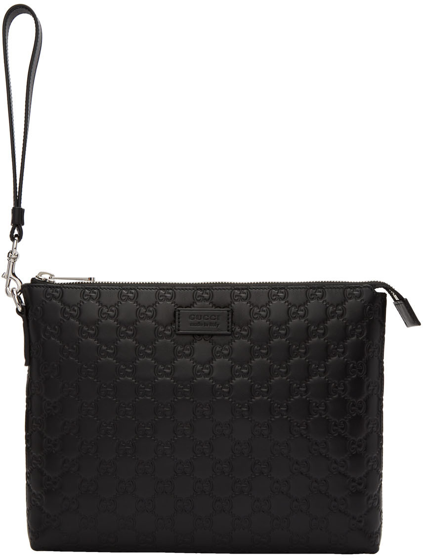 Gucci Accessories Black 'Gucci Signature' Portfolio