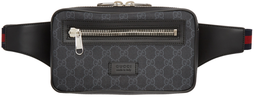 Gucci Belt bags Black & Grey GG Supreme Belt Bag