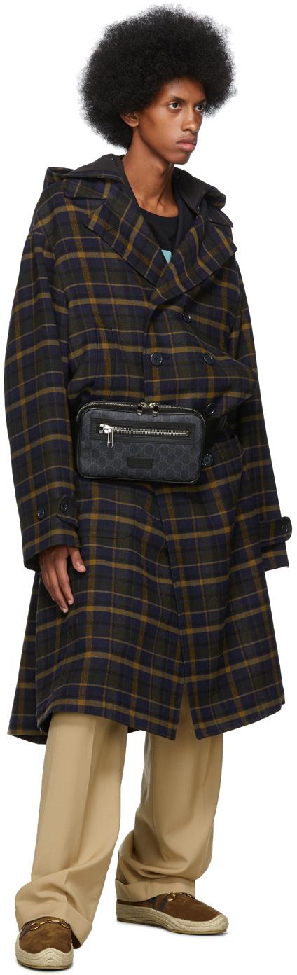 Gucci Belt Black & Grey GG Supreme Belt Bag