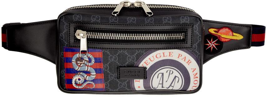 Gucci Accessories Black GG Supreme Night Courier Pouch