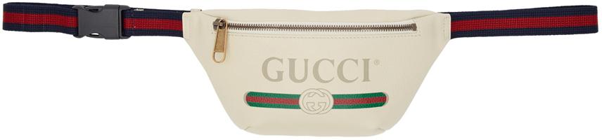 Gucci Belt White Vintage Logo Belt Bag