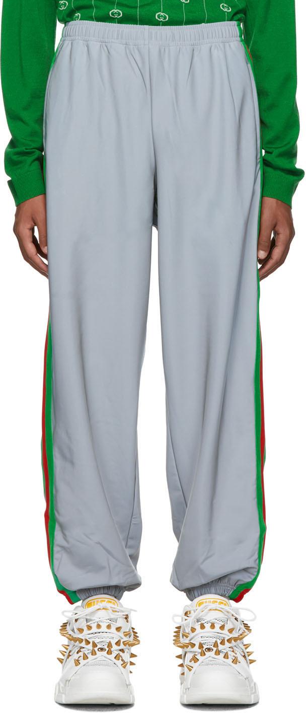 Gucci Pants Silver Reflective Loose Lounge Pants