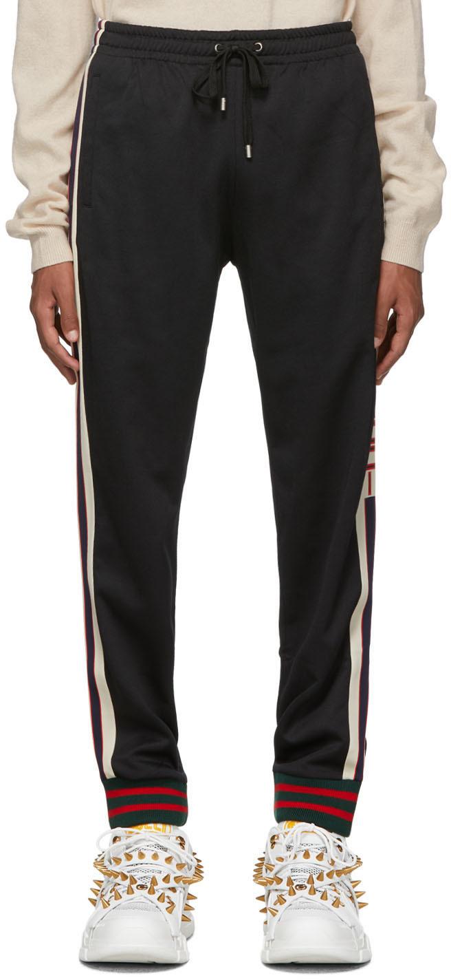 Gucci Pants Black Logo Lounge Pants