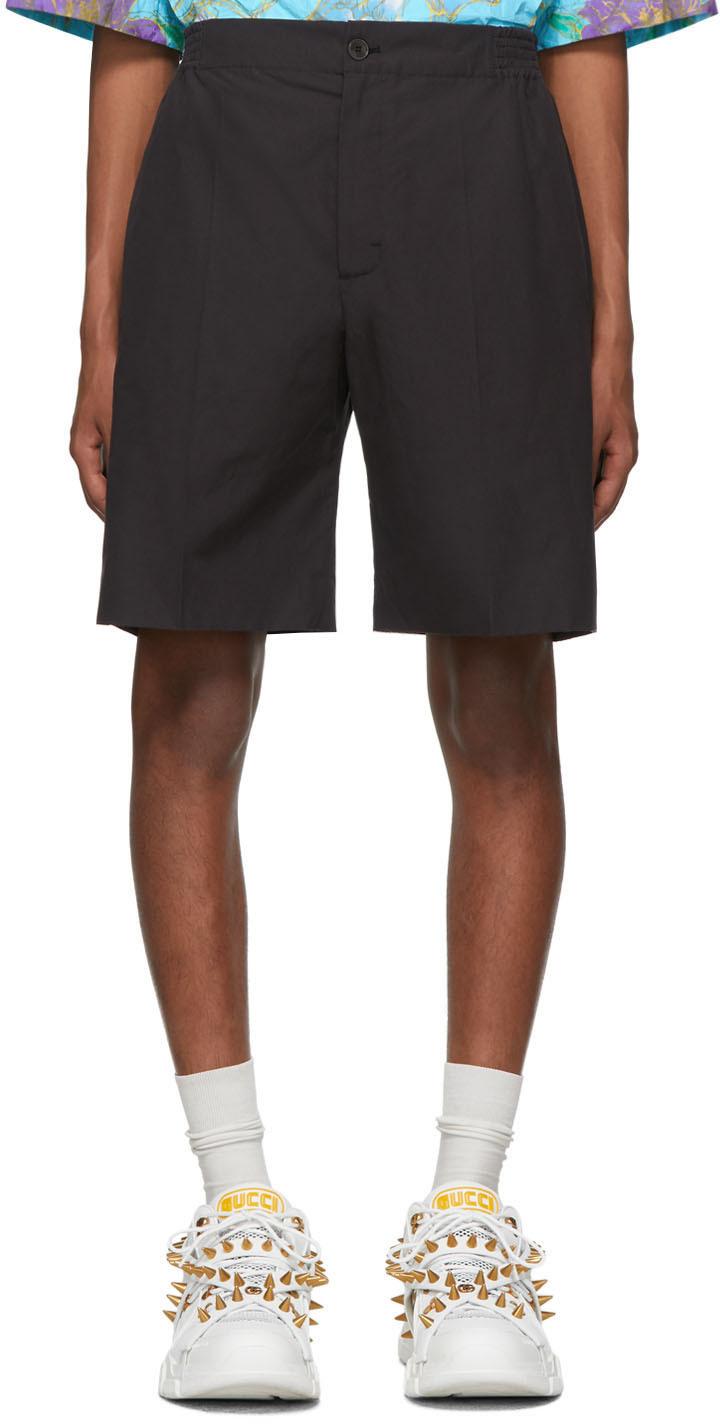 Gucci Shorts Black Poplin Shorts