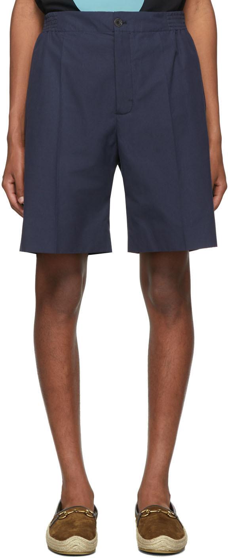 Gucci Shorts Navy Poplin Shorts