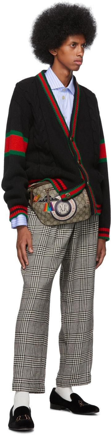 Gucci Belt Beige GG Supreme Courier Belt Bag