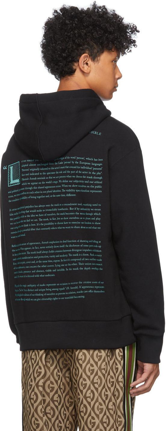 Gucci Accessories Black & Blue Manifesto Hoodie