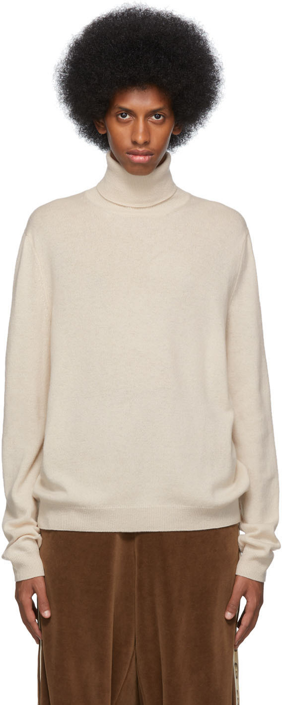 Gucci Tops Off-White Wool Cashmere Turtleneck