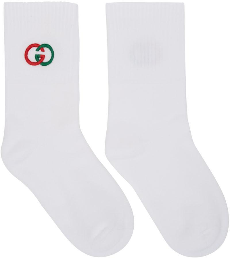 Gucci Socks White Interlocking G Tennis Socks