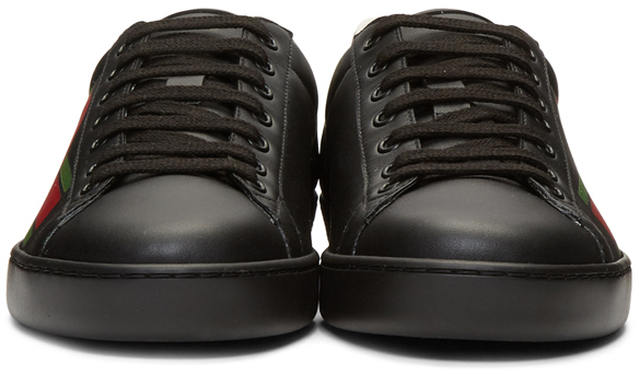 Gucci Sneakers Black Interlocking G New Ace Sneakers