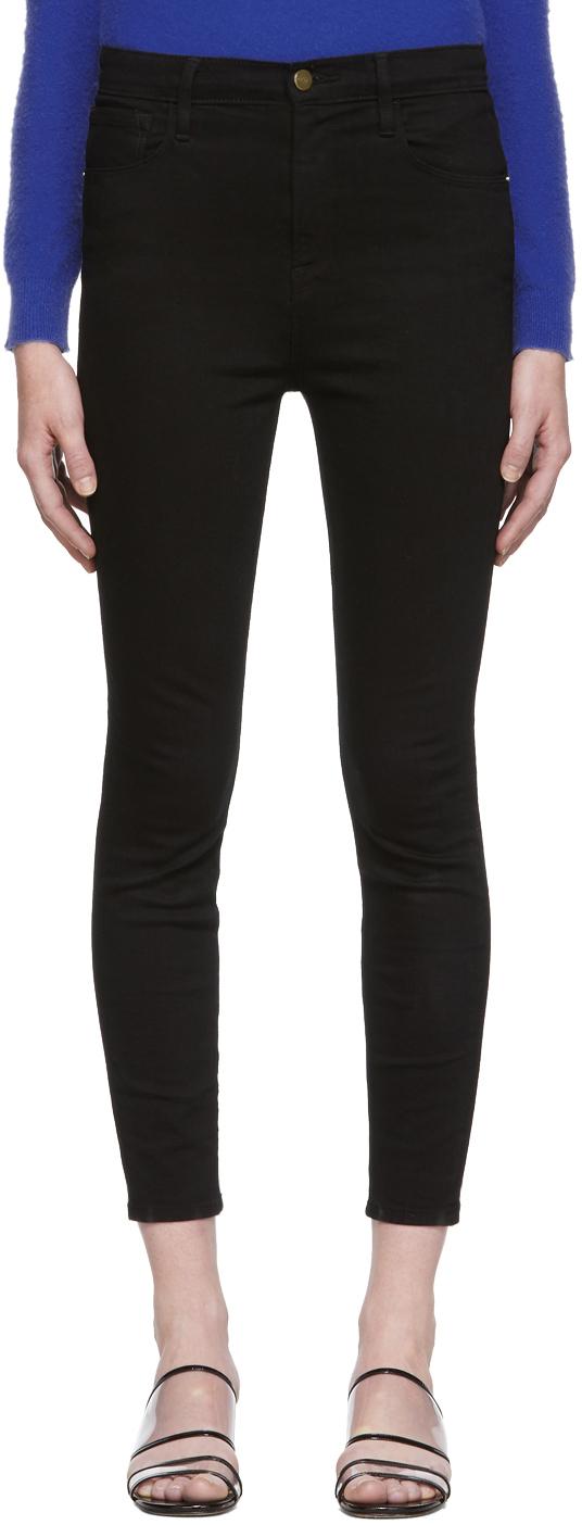Frame Jeans Black Ali High Rise Skinny Jeans