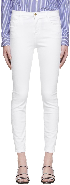 Frame Jeans White 'Le High Skinny' Jeans