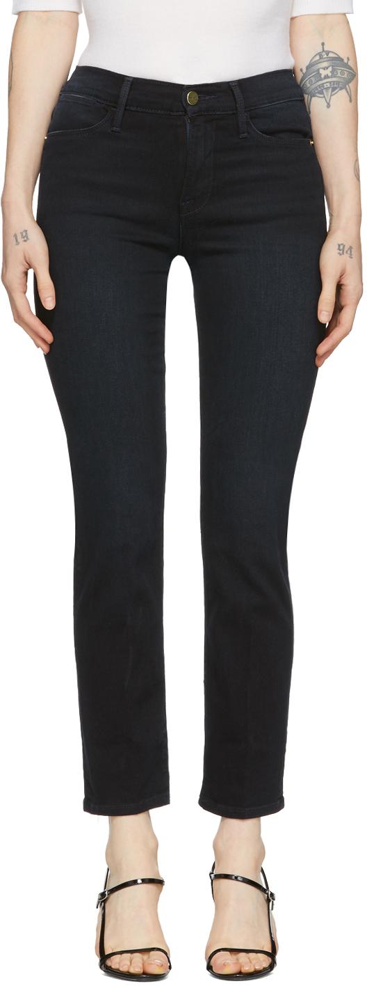 Frame Jeans Indigo 'Le High' Jeans
