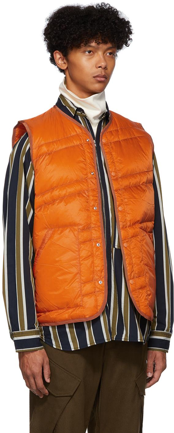 Nanamica Accessories Orange Down Ripstop Vest