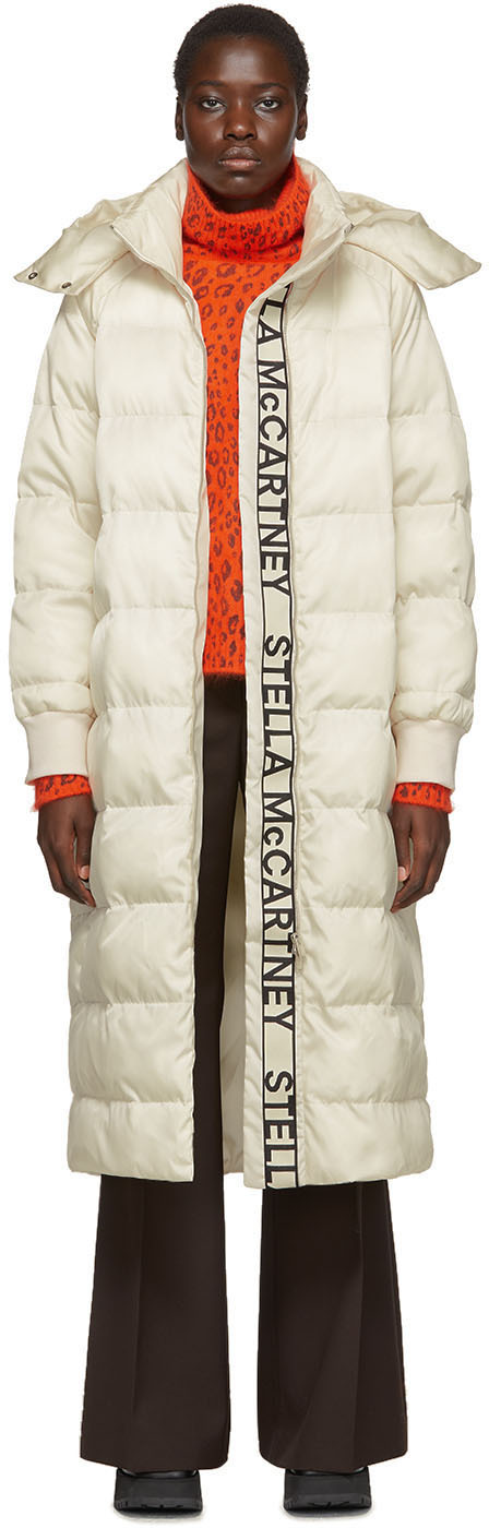 Stella Mccartney Coats White Quilted Puffer Coat