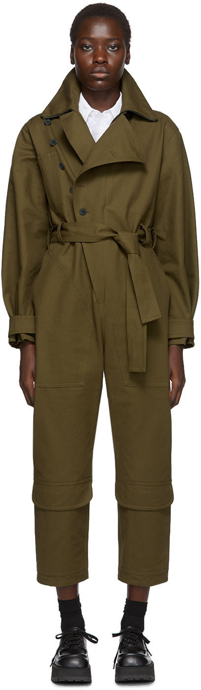 Stella Mccartney Suits Khaki Military Jumpsuit